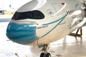 """Garuda Indonesia revela una nueva librea especial de """"máscara"""" en el Airbus A330-900neo"""
