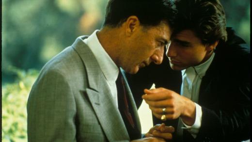 Dustin Hoffman y Tom Cruise en Rainman.