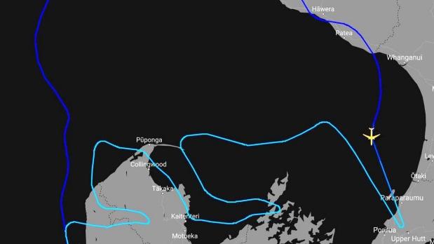 El vuelo especial de Air New Zealand atrae a los kiwis al cielo