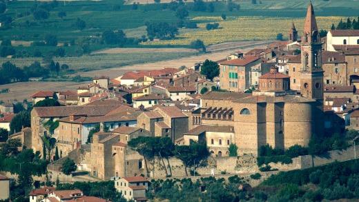 La tranquila ciudad toscana de Castiglion Fiorentino.