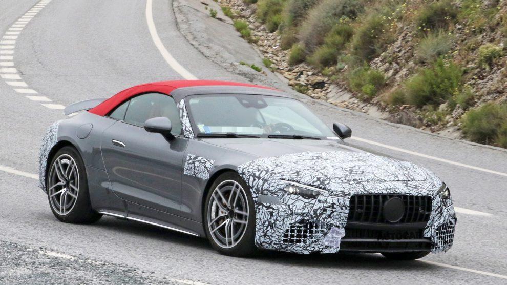 El nuevo Mercedes-AMG SL 2022 se deshace del disfraz a medida que se acerca la revelación