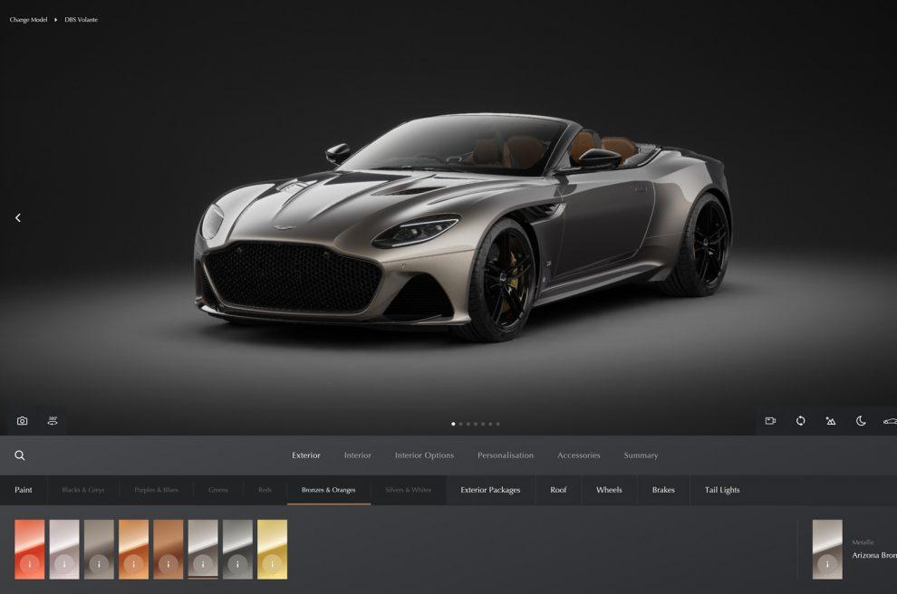 Aston Martin lanza el nuevo configurador para la alineación actualizada de 2021