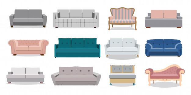 tipos de sofás